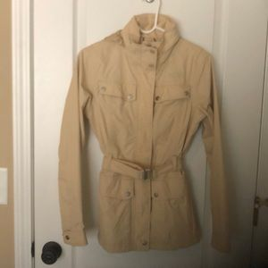North Face belted short trench coat